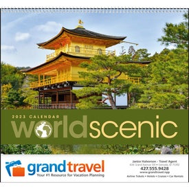 Imprinted World Scenes Appointment Calendar