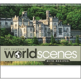 World Scenes with Recipes Wall Calendar for Marketing