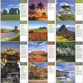 Company World Scenes with Recipes Wall Calendar