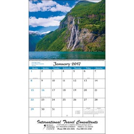 Printed World Scenic Wall Calendar