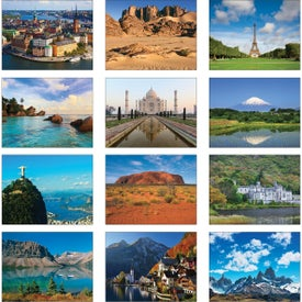 World Scenic Wall Calendar Printed with Your Logo