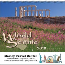 Custom World Scenic Wall Calendar