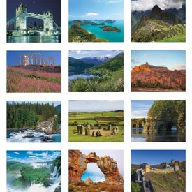World Scenic Wall Calendar with Your Slogan