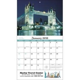 Custom World Scenic Wall Calendar