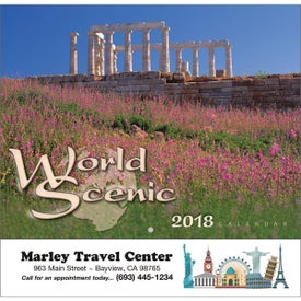 World Scenic Wall Calendar Branded with Your Logo