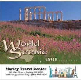 World Scenic Wall Calendar (Stapled)