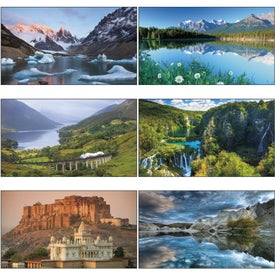 World Scenic - Executive Calendar with Your Logo