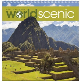 "World Scenic Executive Calendar (12"" x 25"", 2020)"