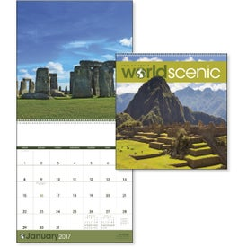 Printed World Scenic Executive Calendar