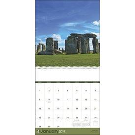 World Scenic Executive Calendar Imprinted with Your Logo