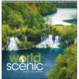 World Scenic Executive Calendar with Your Logo