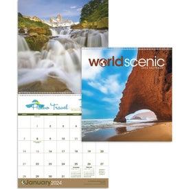 World Scenic Executive Calendar with Your Logo