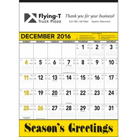 Personalized Yellow and Black Contractors Memo Calendar
