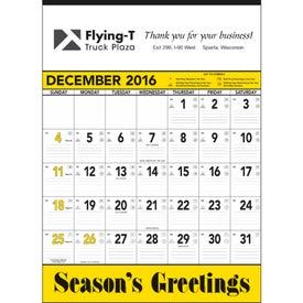 Personalized Yellow and Black Contractors Memo Calendar