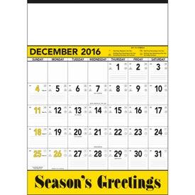 Customized Yellow and Black Contractors Memo Calendar