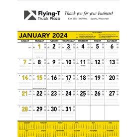 Custom Yellow and Black Contractors Memo Calendar