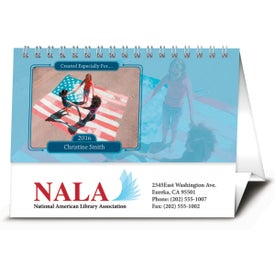 Your Name Here Desk Calendar Branded with Your Logo