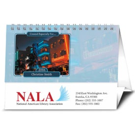 Your Name Here Desk Calendar Imprinted with Your Logo