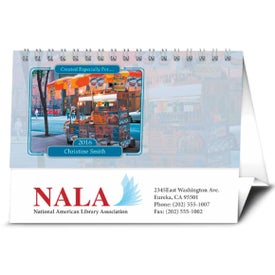 Logo Your Name Here Desk Calendar