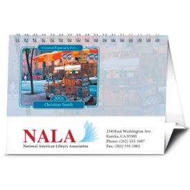 Logo Your Name Here Desk Calendar
