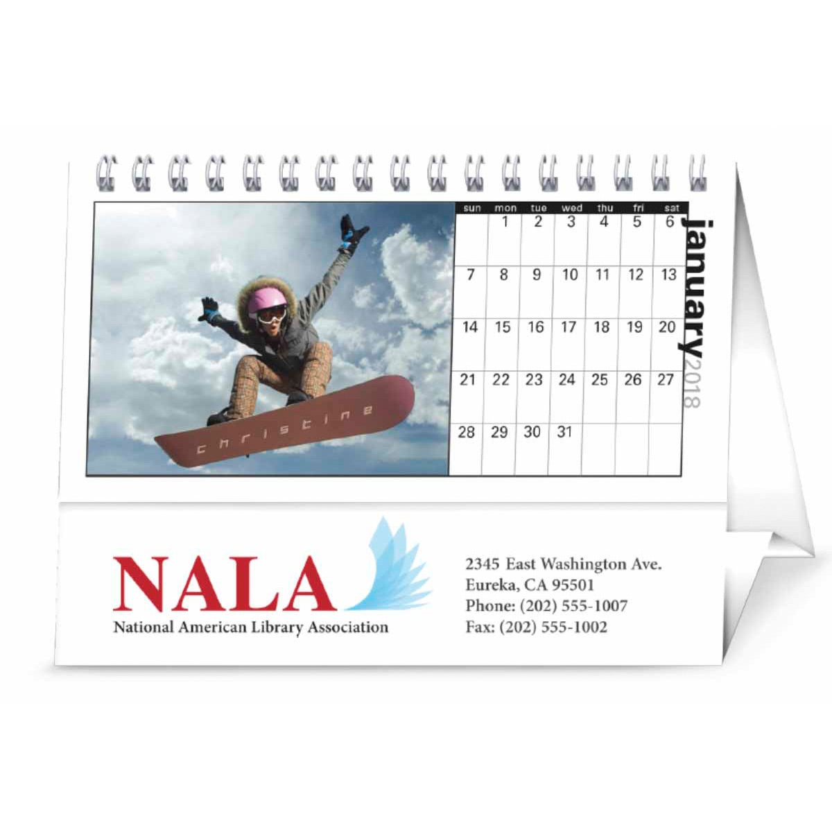 promotional 2019 your name here desk calendars with custom logo for