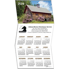 Personalized Z-Fold Greeting Card Calendar