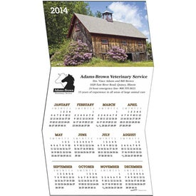 Promotional Z-Fold Greeting Card Calendar