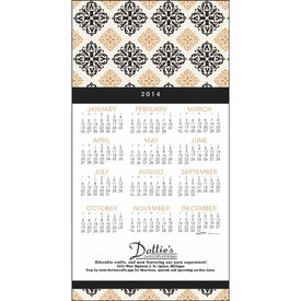 Z-Fold Greeting Card Calendar Imprinted with Your Logo