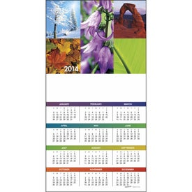 Z-Fold Greeting Card Calendar Printed with Your Logo