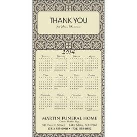 Z-Fold Greeting Card Calendar for Promotion