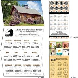Z-Fold Greeting Card Calendar for Customization