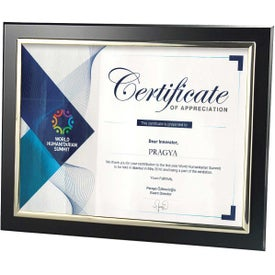 Certificate Frames with Metallized Accent (Black/Silver)