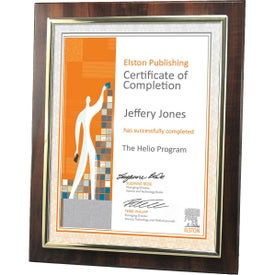 Certificate Frames with Metallized Accent (Walnut Brown)