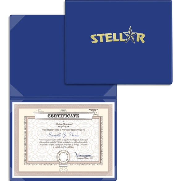 Royal Blue Certificate or Diploma Holder