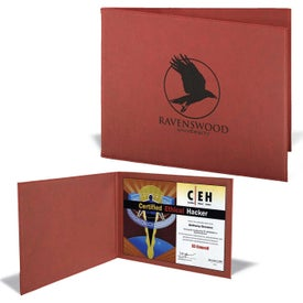Leatherette Certificate Holders (Rose)