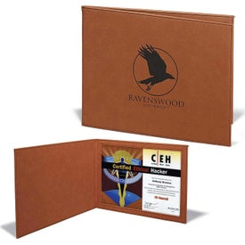 Leatherette Certificate Holders