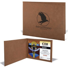 Leatherette Certificate Holders (Dark Brown)
