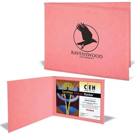Leatherette Certificate Holders (Pink)