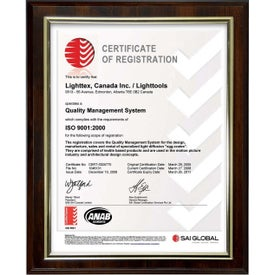 Easy Slide-In Certificate Plaques (Walnut Brown)