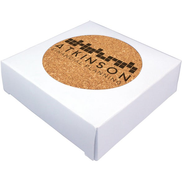 Brown Deluxe Cork Coaster 4-Pack