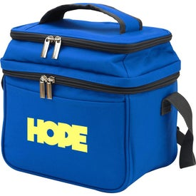 Dual Compartment 6-Can Cooler Tote Bags