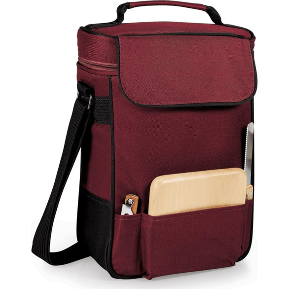 Burgundy Duet Wine and Cheese Tote