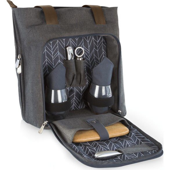 Gray Sonoma Wine and Cheese Picnic Tote