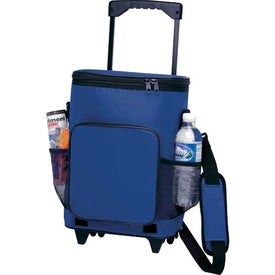 18-Can Rolling Insulated Cooler for Marketing