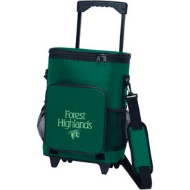 18-Can Rolling Insulated Cooler Branded with Your Logo