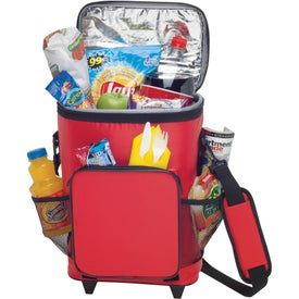 Imprinted 18-Can Rolling Insulated Cooler