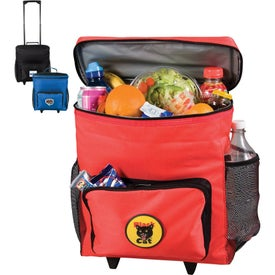 Promotional 30 Can Rolling Cooler Bags With Custom Logo