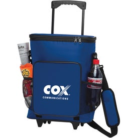 Imprinted 30-Can Rolling Insulated Cooler Bag