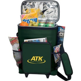 30-Can Rolling Insulated Cooler Bag Printed with Your Logo