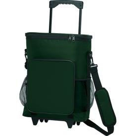 30-Can Rolling Insulated Cooler Bag Branded with Your Logo